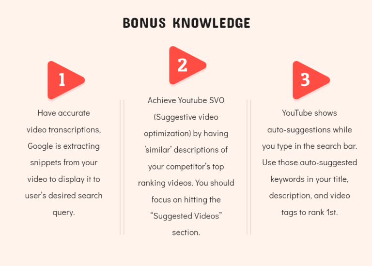 YouTube Bonus Knowledge