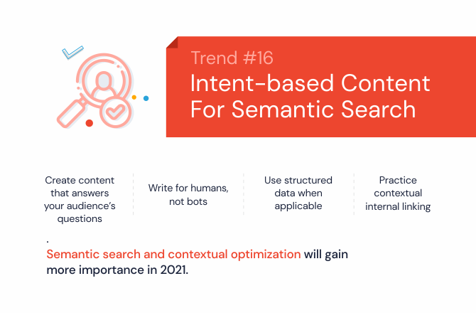 Intent-based content for semantic search