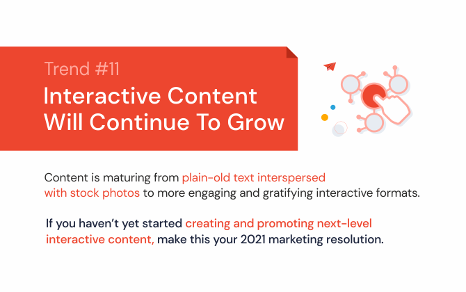 Interactive content will continue to grow