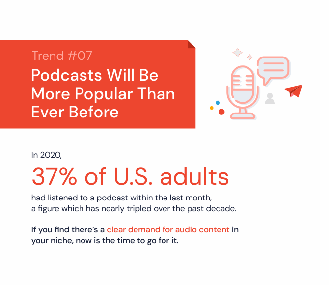 Podcasts will be more popular